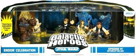 (Star Wars Galactic Heroes Cinema Scene - Endor Celebration)