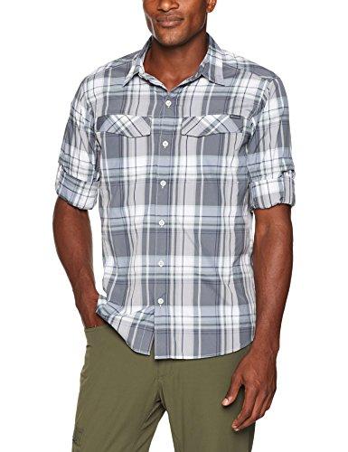 Columbia Men's Silver Ridge Plaid Long Sleeve Shirt, Soft Metal Plaid, Large