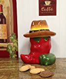 Western Red and Green Chili Pepper Cookie Jar