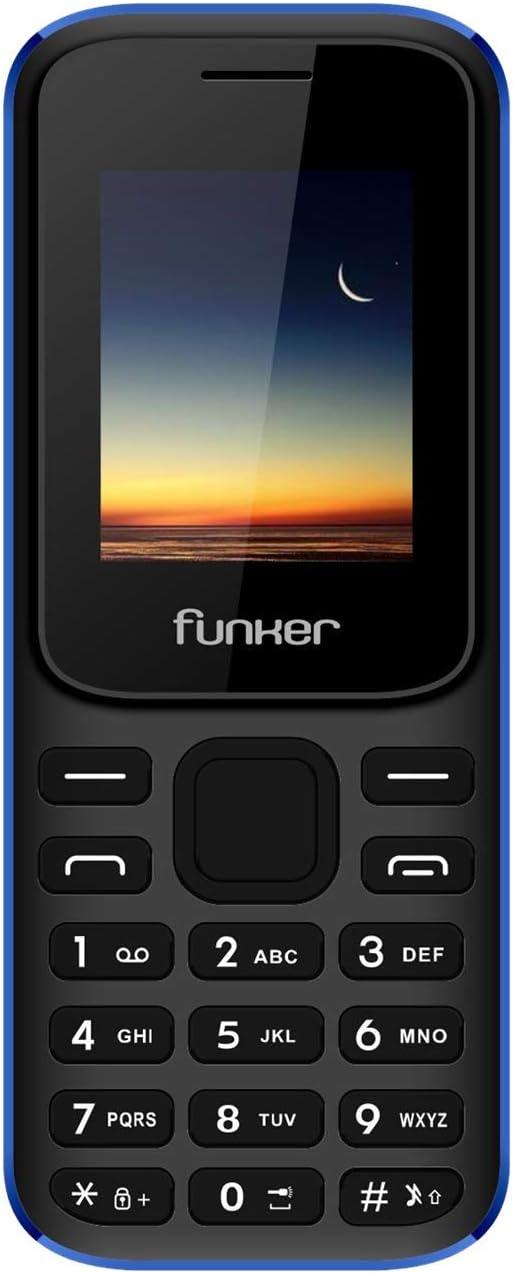 Funker F2 Classic Teléfono Móvil con Teclado cómodo y manejo Sencillo Dual SIM Bluetooth Cámara y Radio FM, Negro y Azul