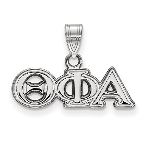 925 Sterling Silver Officially Licensed Theta Phi Alpha Small Pendant (14 mm x 21 mm)