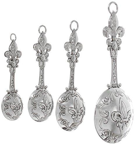 Ganz 4 piece measuring spoons set fleur de lis new free shipping ebay - Fleur de lis measuring spoons ...
