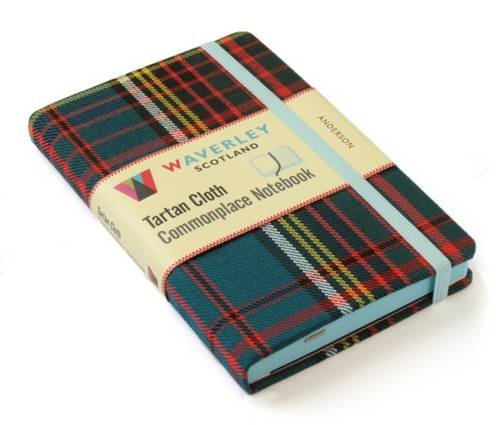 Anderson: Waverley Genuine Tartan Cloth Commonplace Notebook - Uk National Costume