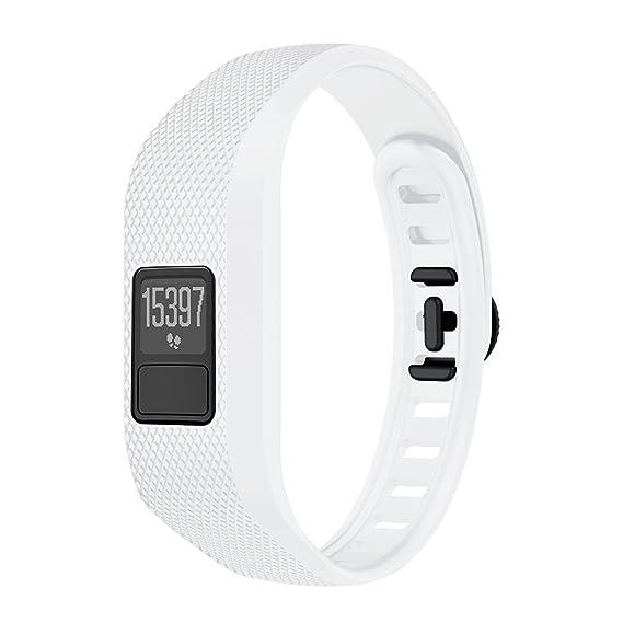 JiaMeng Reloj para Garmin Vivofit 3, Ejecutar Paso Reloj Pulseras de Repuesto de Silicona Suave