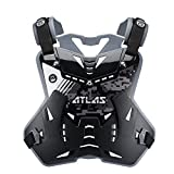 Atlas Brace Technologies Defender Digital Stealth Chest Protector (Black, Adult)