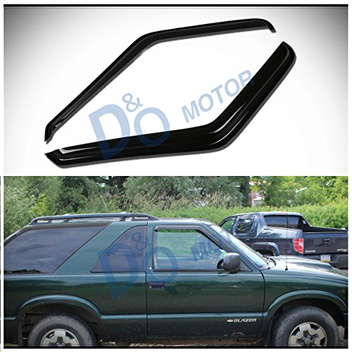 D&O MOTOR 2pcs Front Smoke Sun/Rain Guard Outside Mount Tape-On Vent Shade Window Visors For 95-05 Chevy Blazer/GMC Jimmy 2-Door 94-04 S10 Pickup/Sonoma 96-00 Isuzu (Blazer Vent)