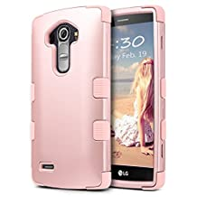 """LG G4 Case, ULAK [3 in 1 Shield] Shock Absorbing Case with Hybrid Cover Soft silicone + Hard PC Material Design for LG G4 (5.5"""" inch) 2015 Release Rose Gold"""