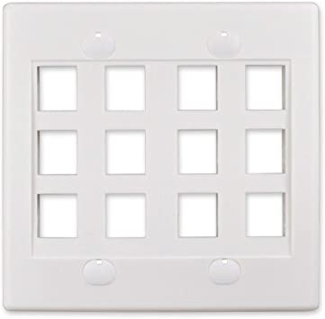 Conwork QuickPort Decora Wall Plate Insert for 6-Port Keystone Jack 10-Pack