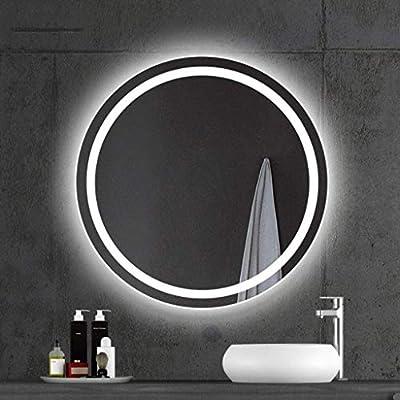 Bathroom Makeup Mirror Round Led Backlit Frameless Bathroom Mirror Hd Imaging Wall Mounted Vanity Mirror Shaving Mirror Diameter 60 70 80cm Buy Online At Best Price In Uae Amazon Ae