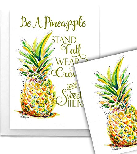 12 Pineapple Greeting Cards Blank Hostess Gift Housewarming Be a ()