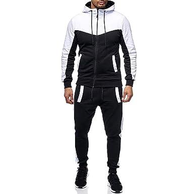 ♚ Chándal para Hombre, Otoño Invierno Hombre Packwork Sudadera Top Pantalones Conjuntos Traje Deportivo Chándal Absolute: Amazon.es: Ropa y accesorios