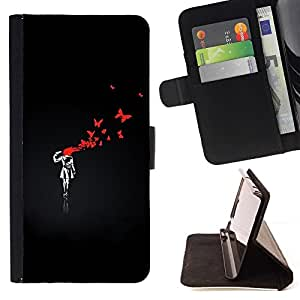 For Sony Xperia Z3 D6603 Funny Street Art Graffiti Bnksy Beautiful Print Wallet Leather Case Cover With Credit Card Slots And Stand Function