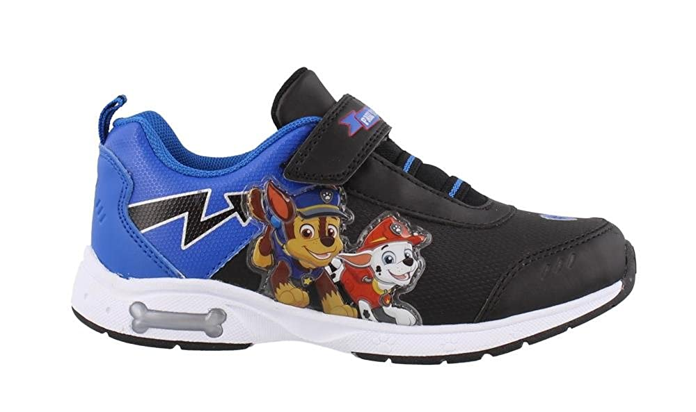 Josmo Kids Baby Boy's Paw Patrol Lighted Sneaker (Toddler/Little Kid) Black/Blue 7 M US Toddler M