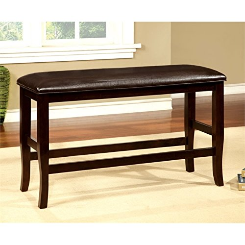 Bowery Hill Counter Height Dining Bench in Natural Wood