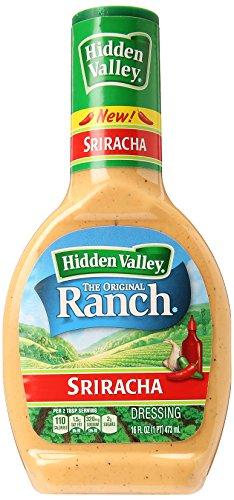 Hidden Valley Sriracha Ranch Salad Dressing & Topping, Gluten Free - 16 Ounce Bottle