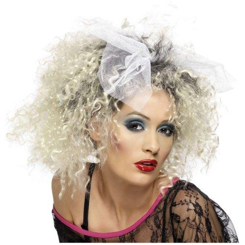 Smiffy's 80's Wild Child Wig, Blonde/Black, One Size