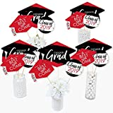 table centerpiece ideas Red Grad - Best is Yet to Come - 2019 Red Graduation Party Centerpiece Sticks - Table Toppers - Set of 15