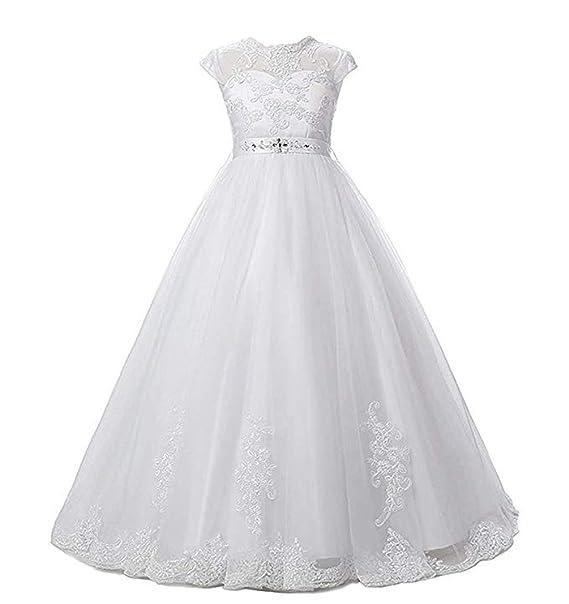Amazon.com: Vestido de tul de encaje con flores, vestido de ...