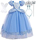 Romy's Collection Princess Blue Cinderella Costume Party Dress-up Set (6-7, Blue 2)