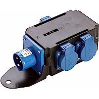 as - Schwabe MIXO strömfördelare WESER – 230 V/16 A CEE-kontakt till 3 x Schuko-uttag – IP44-certifierad – robust…