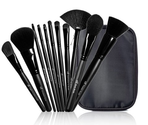 e.l.f. Cosmetics 11-Piece Studio Makeup Brush Collection, Black