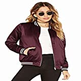 Yiyou Women's Classic Short Padded Bomber Jacket Coat Quilted Jacket (L, Army Green 2)