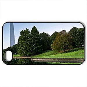 Around the world - Case Cover for iPhone 4 and 4s (Amusement Parks Series, Watercolor style, Black)