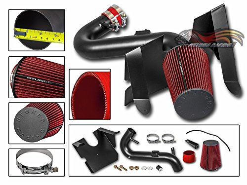 R&L racing 05-09 Ford Mustang 4.0L V6 Matte Black Cold Air Intake System + Filter (Mustang Cold Air)