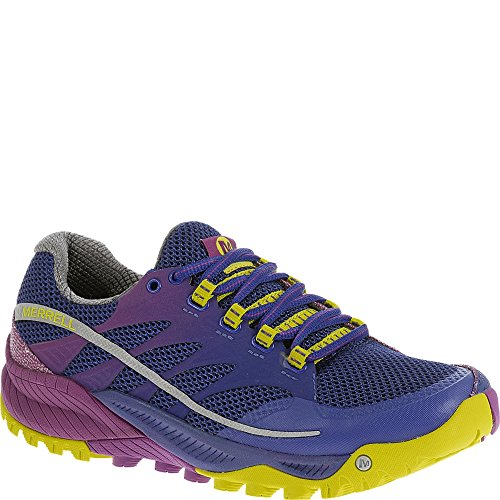 Merrell Women's All Out Charge Trail Running Shoe, Wild Plum/Lime, 6.5 M US (Merrell Wrap Hiking)
