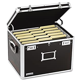 Vaultz Locking File Storage Chest, Two-Handled, Letter/Legal File Storage, 17 1/2 W x 14 D x 12 1/2 H Inches, Black (VZ01008) (B000MK4TPK) | Amazon price tracker / tracking, Amazon price history charts, Amazon price watches, Amazon price drop alerts