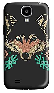 S4 Case, Samsung S4 Case, Customized Protective Samsung Galaxy S4 Hard 3D Cases - Personalized Wolf Head Cover