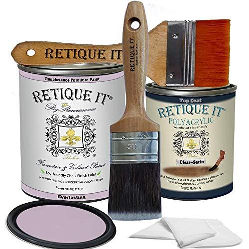 Retique It Chalk Furniture Paint by Renaissance, Poly Kit, Everlasting 31, 32 Ounces