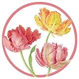 Caspari Salad/Dessert Plates, Tulip Dance by Caspari Inc.
