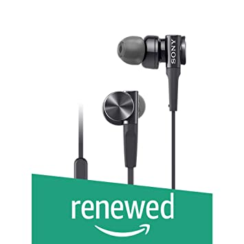 (Renewed) Sony MDR-XB75AP in-Ear Extra Bass Headphones with Mic (Black) In-Ear Headphones at amazon