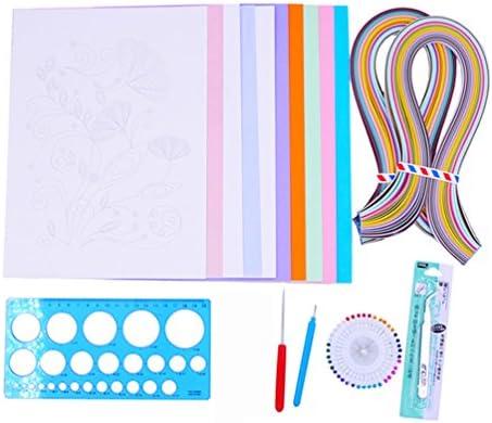 YURROAD 初心者 キルティングペーパーキット 手作り 紙工芸品 ユニークな贈り物 カラフルなペーパーストリップ ツールを作る