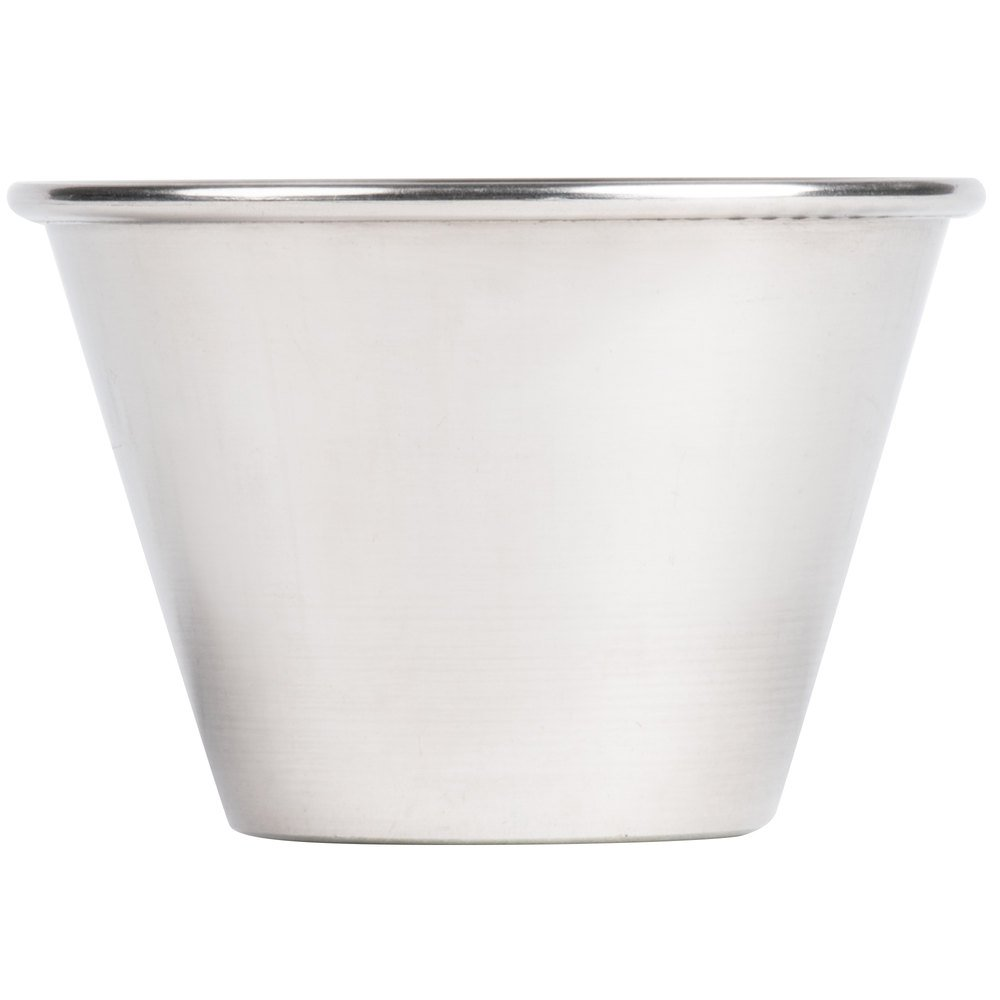 (12 Pack) Stainless Steel Sauce Cups 4 oz, Commercial Grade Dipping Sauce Cups, Individual Condiment Sauce Cups / Ramekins by Tezzorio by Tezzorio Tabletop Service (Image #2)