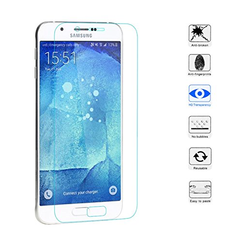OKCS® TPU Hülle Case Schutzhülle für Samsung Galaxy A8 inklusive Wunderglass Panzerglas Screenprotector Schutzfolie Displayschutz Glasprotector