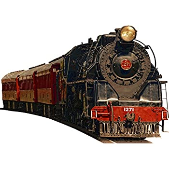Vintage Train Wall Decal Realistic Train Wall Decals Peel And Stick Mural  VWAQ PAS2 (