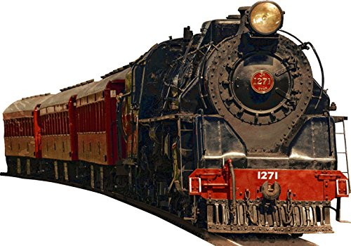Vintage Train Wall Decal Realistic Train Wall Decals Peel And Stick Mural VWAQ-PAS2 (10