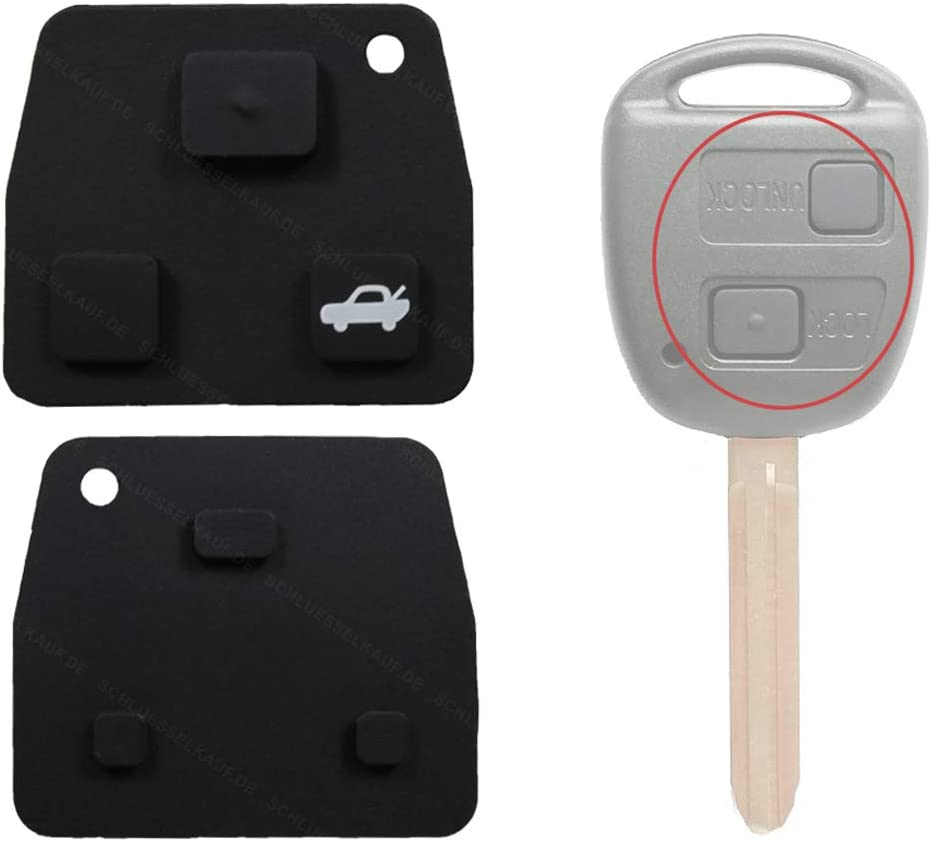 Konikon Schlüssel Tastenfeld Tastengummi Für 2 Oder 3 Tasten Gehäuse 1 Stück Neu Passend Für Toyota