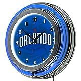 Trademark Gameroom NBA1400-OM2 NBA Chrome Double Rung Neon Clock - Fade - Orlando Magic