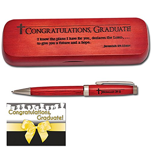 Jeremiah 29 Congratulations Graduate Decorative Wood Pen Set