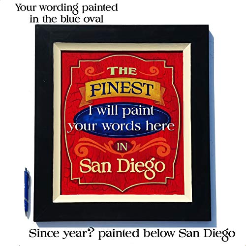 San Diego business sign hand painted by Chuck Peterson Designs