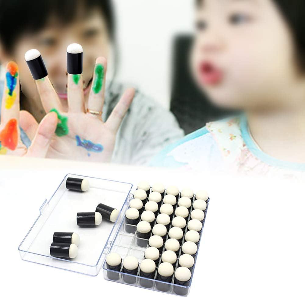 40PCS Finger Sponge Daubers Set for Painting Drawing Ink Crafts Chalk DIY Craft Handmade Finger Sponge Daubers Stamping