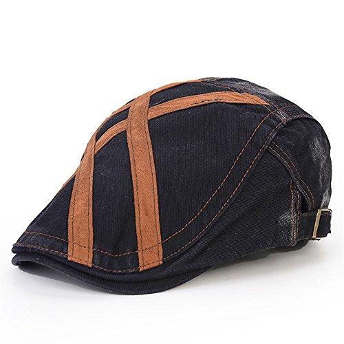 - Pierre LaMarreDS Men's Flat Cap Vintage Adjustable Quilted Lined Golf Newsboy Hat