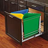 Rev-A-Shelf - 5BBSC-WMDM24-W - White Three Bin Recycling Center with Soft-Close Slides