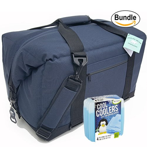 polar-bear-coolers-nylon-series-soft-cooler-tote-size-48-pack-navy-blue-fit-fresh-cool-coolers-slim-