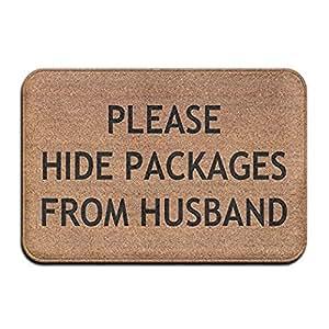 Darren Wesley por favor ocultar paquetes de marido Super absorbente cojín, alfombra Felpudo, Felpudo, 24x36inch/60x 90cm