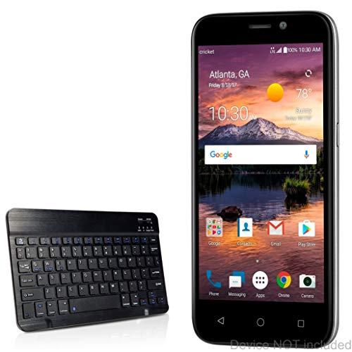 BoxWave ZTE Prelude+ Keyboard, [SlimKeys Bluetooth Keyboard] Portable Keyboard with Integrated Commands for ZTE Prelude+ - Jet Black