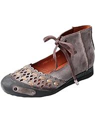 Mordenmiss Womens Summer Handmade Genuine Leather Sandal